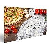 islandburner Bild Bilder auf Leinwand Ich Liebe Pizza in