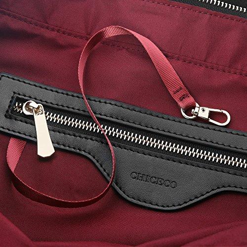 1b244c1c0f741 ... CHICECO Nylon Groß Reise Shopper Tasche Handtasche Damen - Schwarz 1  Schwarz ...