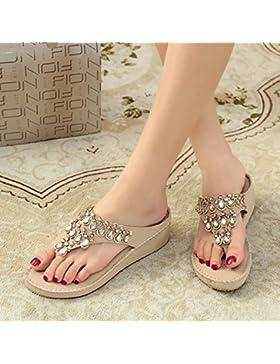 KPHY-La nueva perforación de agua en el verano chica Cool zapatillas sandalias pendiente con espesor chica elegante...