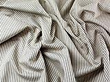 Inlett Streifen Weich Baumwolle Kleid Stoff braun–Meterware + Craft Guide