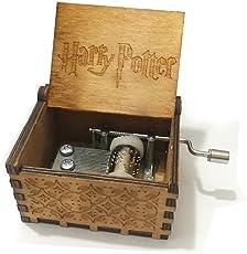 BADARENXS 'Premier Spieluhr, Harry. Gravur aus Holz Dekorative Box Weihnachtsgeschenke