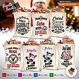 Gran algodón saco de Papá Noel calcetín de Navidad Vintage personalizado personalizar, color_name, Extra Large Design P05