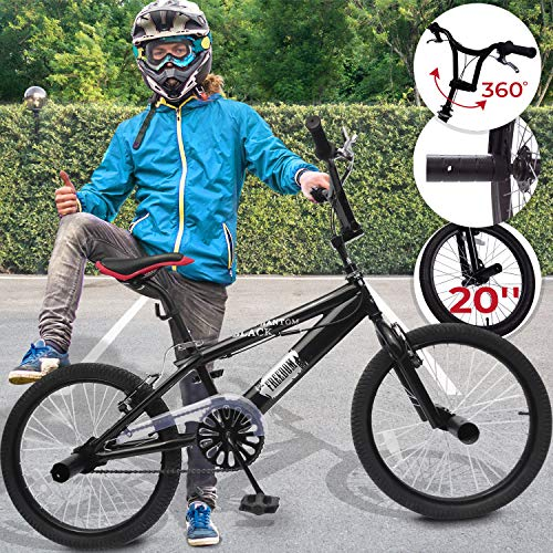 BMX 20 Zoll | 360° Rotor-System, Freestyle, 4 Stahl Pegs, Kettenschutz | Fahrrad, Bike, Bicycle, Kinderfahrrad, Jugendfahrrad, Street, Park, Rad - Bmx 20 Bike Zoll