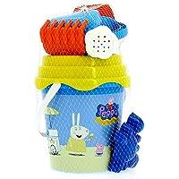 Mondo Mondo-28052 Bucket Peppa Pig Plage – Seau Renew Toys 28052, Multicolore