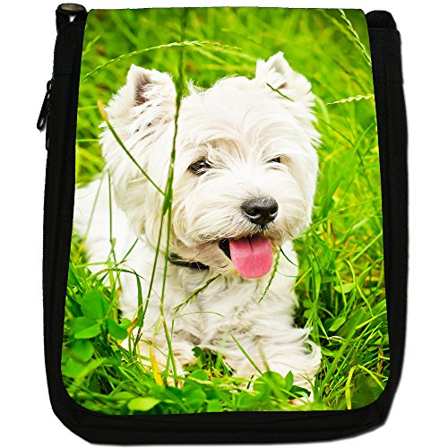 West Highland White Terrier, in tela, colore: nero, taglia: M West Highland Terrier In Grass