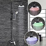 Homelody® 2- Funktion RGB LED Duschsystem Duscharmatur inkl Handbrause und