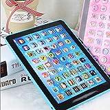 Les enfants touchent la tablette d'apprentissage de machine de lecture apprenant la machine de première éducation pour des enfants Les enfants éducatifs apprennent l'anglais chinois, bleu