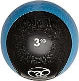 Fitness-Mad-Medicine Ball en PVC Noir/Bleu 3 kg