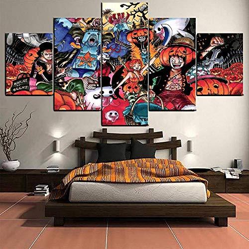 Kunstwerk Foto Moderne Hauptwanddekoration Anime One Piece Halloween Kostüm Poster Auf Leinwand HD Malerei Wohnkultur Wohnzimmer Leinwanddrucke-Frame