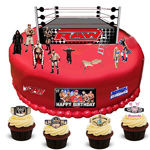 wwe-wrestling-happy-birthday-stand-up-scene-premium-edible-wafer-paper-cake-toppers-decorations