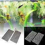 BraveWind 2 Pcs White Grid Divider Tray Egg Crate Aquarium Fish Tank Filter Bottom Isolation Board Pane 14