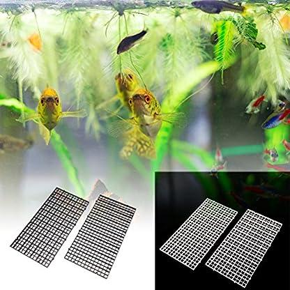 BraveWind 2 Pcs White Grid Divider Tray Egg Crate Aquarium Fish Tank Filter Bottom Isolation Board Pane 7