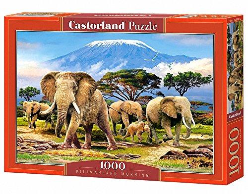 CASTORLAND Kilimanjaro Morning 1000 pcs Puzzle - Rompecabezas (Puzzle Rompecabezas, Fauna, Niños y Adultos, Elefante, Niño/niña, 9 año(s))