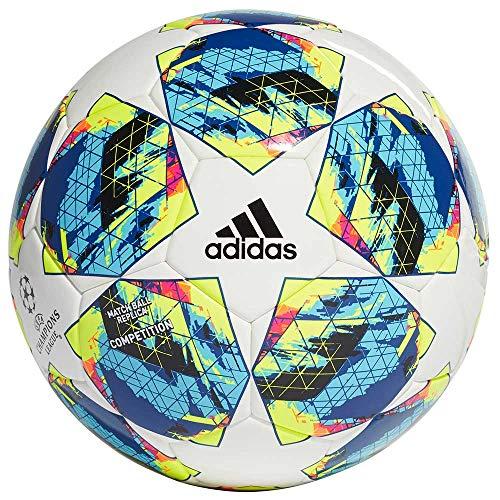 adidas Jungen Finale COMP Turnierbälle für Fußball, top:White/Bright Cyan Yellow/Shock pink Bottom:Collegiate royal/Black/solar orange, 5 -
