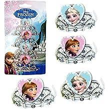 Disney Frozen - Fiestas y Cumpleaños - Diadema - Corona 4 piezas