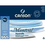 Canson Montval Aquarelpapier Blok rondom gelijmd, 200006545, Wit, 30 x 40 cm