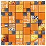 Decostyle ANX Mosaik Deko, 8 mm, 30 x 30 cm, orange, DEC-47082AUU007