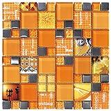Decostyle ANX Mosaik Deko, 8mm, 30x 30cm, orange, DEC-47082AUU007
