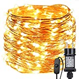 LE Stringa luminosa 22m, 200 LED in Rame Impermeabile e...
