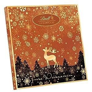 lindt spr ngli goldst cke adventskalender rotgold 1er pack 1 x 156 g. Black Bedroom Furniture Sets. Home Design Ideas