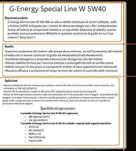 OLIO-MOTORE-G-ENERGY-SERVICE-LINE-W-5W-40-1-LT-VW-AUDI-50200-50500-TAGLIANDO