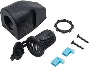 Maso Universal 12v 24v Wasserdichte Marine Boot Auto Motorrad Zigarettenanzünder Netzteil Steckdose Adapter Stecker Kit Auto