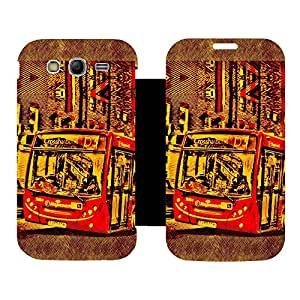 Skintice Designer Flip Cover with Vinyl wrap-around for Samsung Galaxy Grand Neo , Design - bus