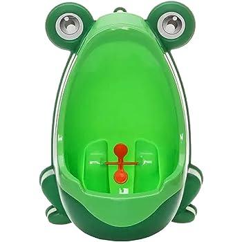 Cute Frog Children Potty Toilet Training Kids Urinal for Boys Pee Trainer Bathroom (Green)