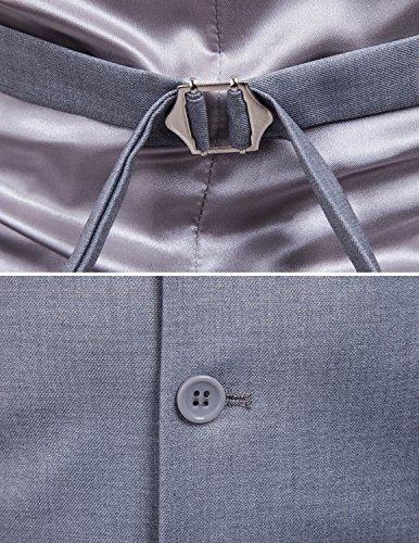 Boom Fashion Gilet panciotto uomo sartoriale elegante casual cerimonia Matrimonio Giacca Slim Fit grigio 1