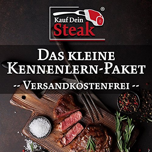 Das kleine 'Kauf Dein Steak' Kennenlern-Paket incl. Rumpsteaks (Dry-Aged), Rib-Eye-Steak ohne...