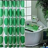 ZBB Blume Grüne Pflanze Wasserdichter Vorhang der Dusche WC Badewanne Falscher Mehltau Verdicken in Polyester Rideau-The 180 X 190 cm (71 X 75 cm)