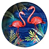 #3: KOLOROBIA TROPICAL WORLD BEAUTEOUS FLAMINGOS INSPIRED HOME DÉCOR WALL PLATE 7.5
