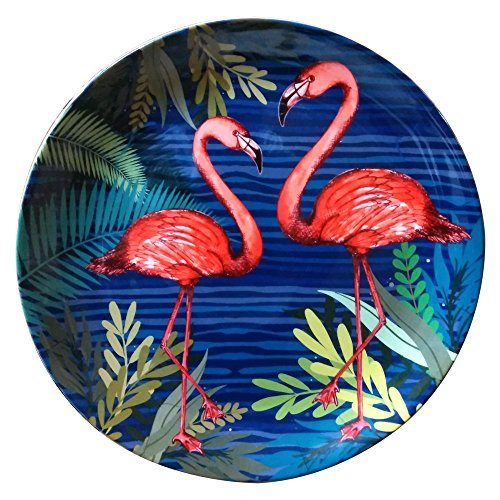 KOLOROBIA Tropical World Beauteous Flamingos Inspired Home Décor Wall Plate 7.5