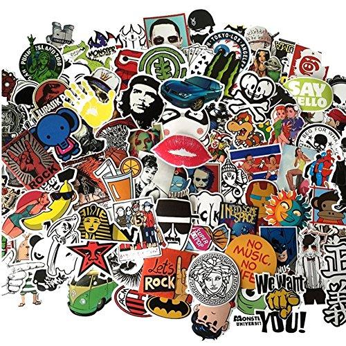 Preisvergleich Produktbild [50 Stück-zufällig] Vpsan Aufkleber Sticker Graffiti Style Reisen Skateboard Snowboard Vinylaufkleber Graffiti Laptop Gepäck Auto Fahrrad
