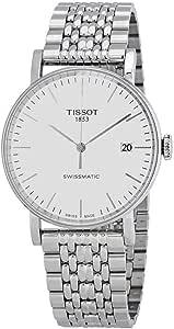 Orologio Tissot T-Classic Everytime T1094071103100 Automatico Acciaio Quandrante Bianco Cinturino Acciaio