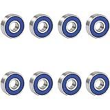 Trixes 8 x reibungsfreie Kugellager ABEC 9 für Skateboard, Roller, Inline Skates