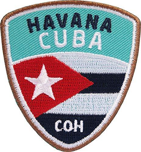 Club of Heroes 2 x Cuba Havana Abzeichen 55 x 60 mm gestickt/Kuba Havanna Aufnäher Aufbügler Sticker Patch für Kleidung Rucksack/Reiseführer Abenteuer Flagge Fahne Land
