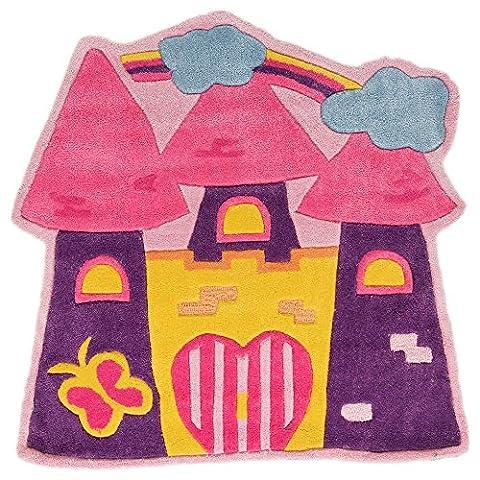 Kiddy Play Fairytale Castle Rug - 90x90cm -