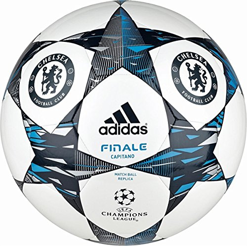 adidas Fußball Finale 2014 Chelsea Capitano - Balón de fútbol de competición, Color Blanco, Talla 5