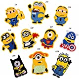 iDream Iron on Patches Minion Style Embroidery Applique Decoration for Clothes L2-S33 (Pack of 10)