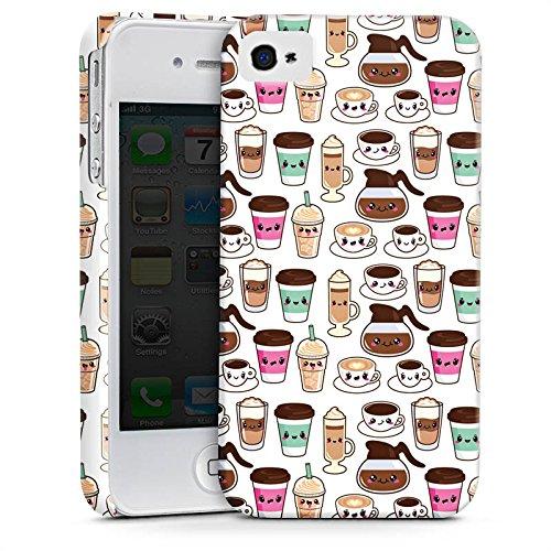 Apple iPhone X Silikon Hülle Case Schutzhülle Kaffee Coffee Kawaii Manga Style Premium Case glänzend