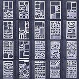RUNGAO 20Bullet Tagebuch Schablonen Malen Herrenohrringe Schablone Planner Set für DIY, Notebook, Zeichnen Vorlage 10,2x 17,8cm