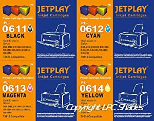 1 set x T0615 (T0611, T0612, T0613 and T0614) - JETPLAY maximum High Capacity Compatible Ink Cartridge for Epson Stylus D68 D88 DX3800 DX3850 DX4200 DX4800 DX4850 Printers