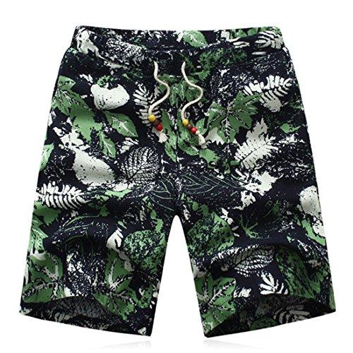 Men's Korean Cotton Floral Beach Shorts as picture 5