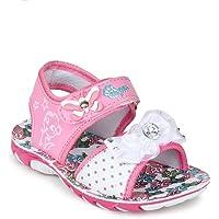 MYAU Kid's Girls Flower Printed Pink White Comfortable Casual Sandals