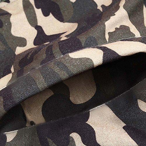 Herren Camouflage Mantel WWricotta Winter Samt Futter Sportjacke Winterjacke Verdickte Parka Sweatjacke Hoodie Zip Kapuzenmantel Steppjacke Übergangsjacke(Mehrfarbig,XXXXL)