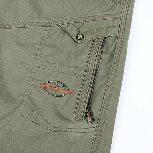 Insun -  Pantaloncini  - Uomo Army Green