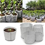 Tutoy 10Pcs Eco-Friendly Round Fabric Pot Planting Pouch Root Grow Aeration Container Seedling Bag Box - #3