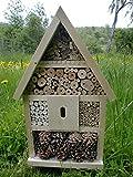 Elna Hôtel à insectes insectes abeilles fabriqué à la main Nichoir prêt naturel 56x 35x 10cm