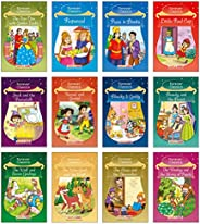 Forever Classics (Set of 12 Fairy Tales with Colourful Pictures) - Story Books for Kids - Rapunzel, The Wise G
